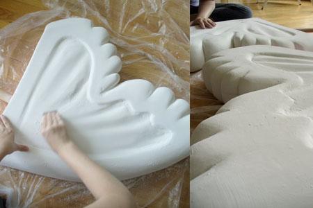 making Cowbella's wings