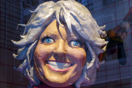 sculpting and prepping the delicious Paula Deen for Barneys NY holiday windows!